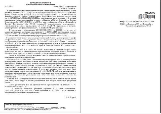Образец протокола по 20.25
